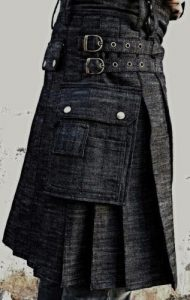 denim for men kilt