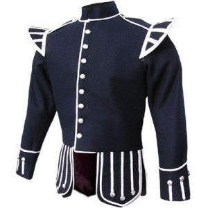 blue mens band jacket