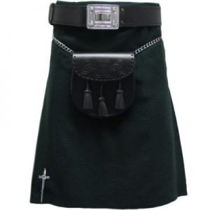 forest green color kilt