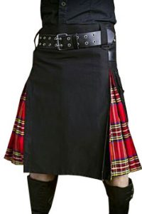 Scottish irish tartan kilt