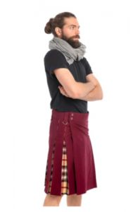 dark maroon colour kilt