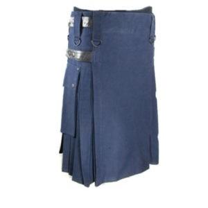 navy blue dress kilt