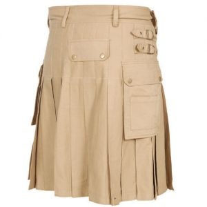 beige color dress kilt