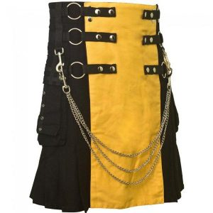 black & yellow kilt