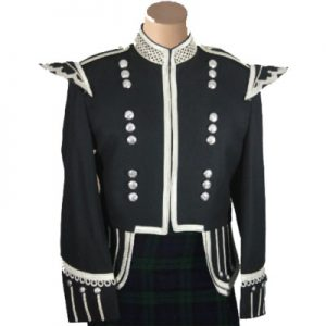 drummer black military jacket mens