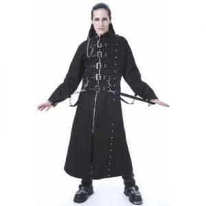 modern designer long black jacket