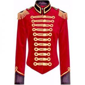 red n black jacket