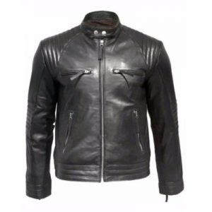 modern leather zipper jacket
