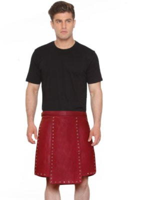 pure red color warrior kilt