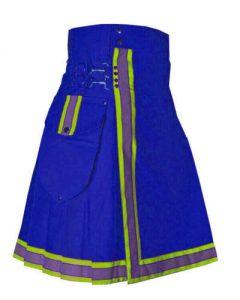 blue color dress kilt