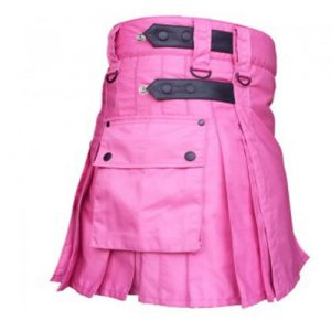hot pink color ladies' kilt