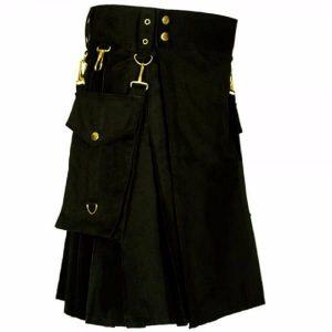 royal black color kilt
