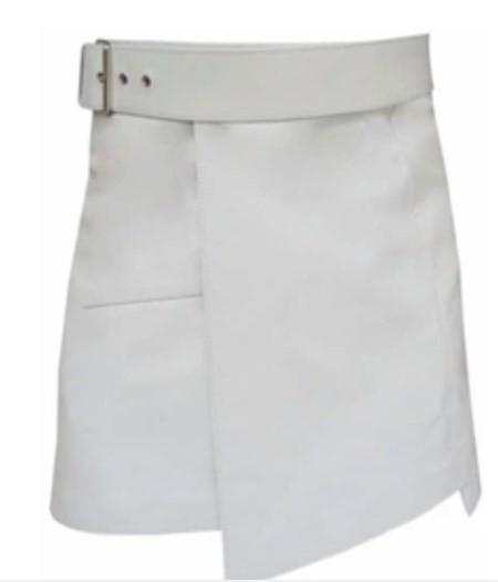 leather mini kilt