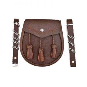 modern brown leather Sporran