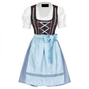 white and blue dirndl dress