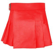 womens red mini skirt