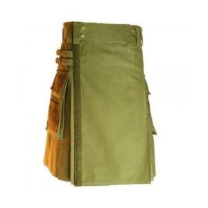 Olive Green Colour kilt