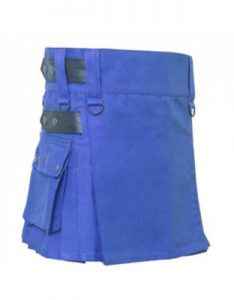 blue ladies dress kilt
