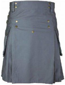 stylish modern grey color kilt
