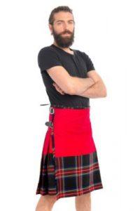 black Stewart tartan