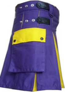 purple & yellow kilt