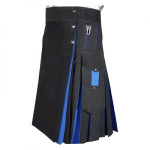blue and black hybrid kilt
