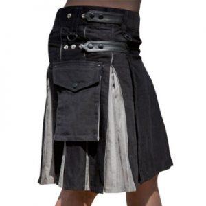 black & grey kilt