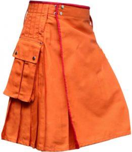 orange color dress