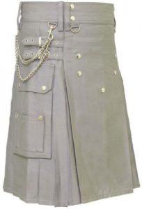 gray fashion kilt