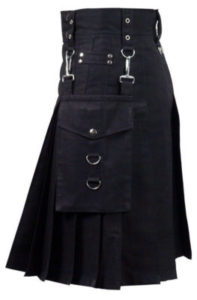 darkest black color kilt