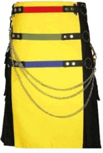 black and yellow kilt