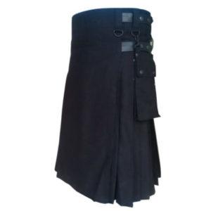black utility kilt