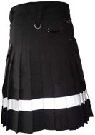 fashion black dress kilt