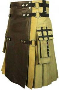 khaki brown color kilt