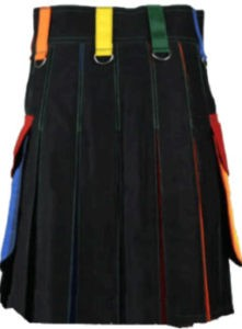 multi color dress kilt