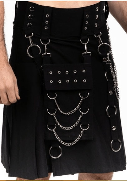 Cybergoth Riveted Kilt