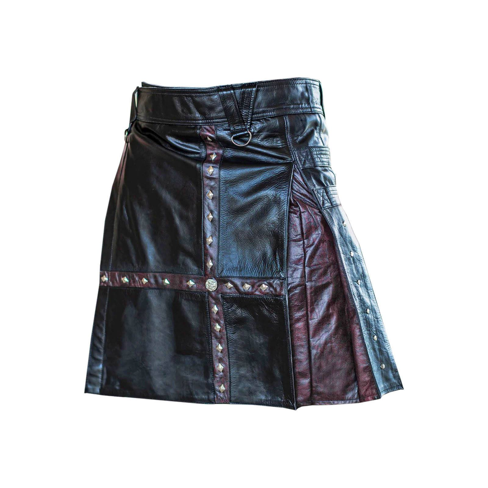 Steampunk Leather Kilt