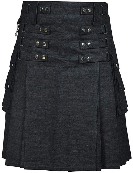 Denim Fashion Kilt