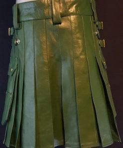 green leather kilt