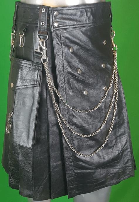 Solid Black Kilt