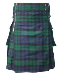 Modern Black Watch Tartan Kilt