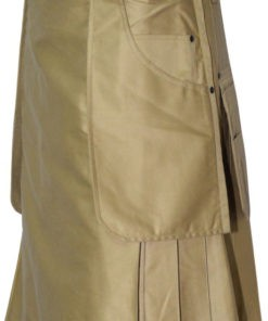 Heavy Duty Khaki Men Utility Kilt