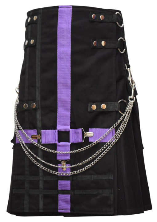 black two tone kilt