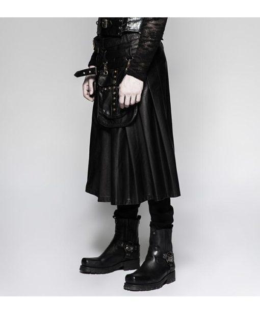 Leather Black Kilt