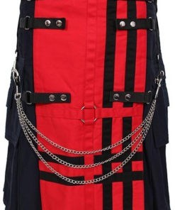 Red Deluxe Utility Fashion Kilt