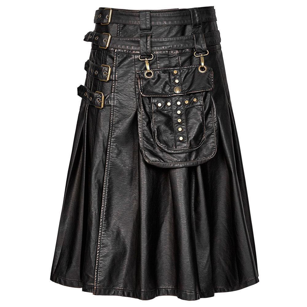 Steampunk Leather Kilt