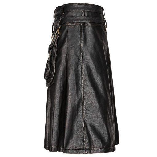 Steampunk Leather Gothic Kilt