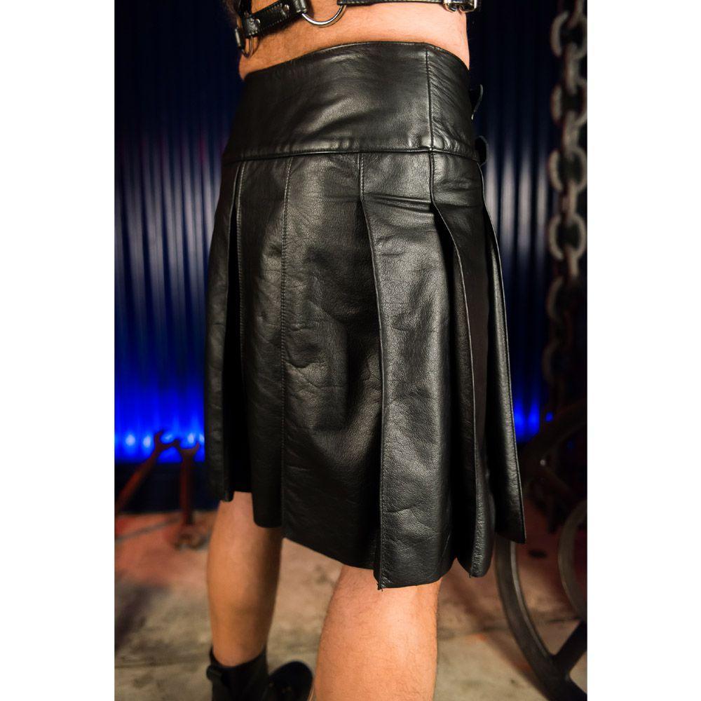 Black Leather Sport Kilt