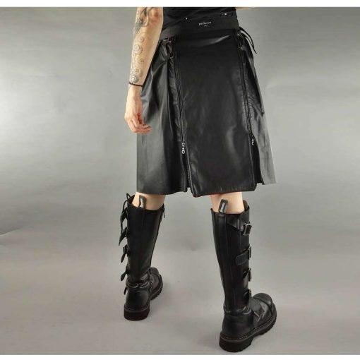 Rock Star Leather Kilt