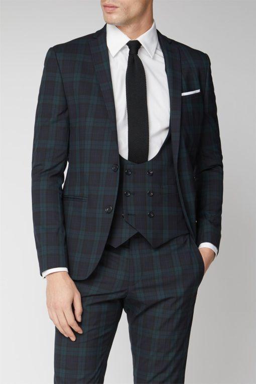 Men Classic Suit Tartan Jacket
